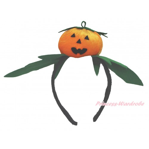 Halloween 3D Orange Pumpkin Headband H873