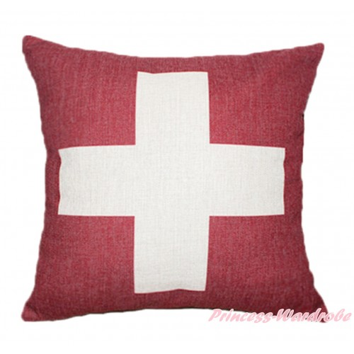 Patriotic Swiss Flag Home Sofa Cushion Cover HG107