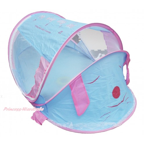Indoor Outdoor Light Blue Pink Music Dog Baby Mosquito Net Tent HG111