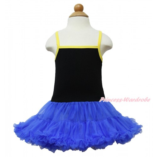 Frozen Anna Black Halter Royal Blue ONE-PIECE Dress LP88
