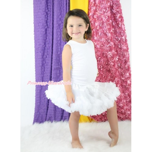 White Full Pettiskirt P11