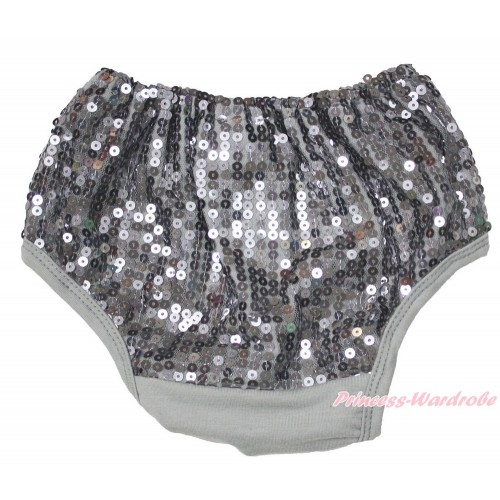 Grey Sparkle Sequins Panties Bloomers B102