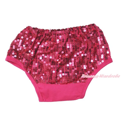 Hot Pink Sparkle Sequins Panties Bloomers B104