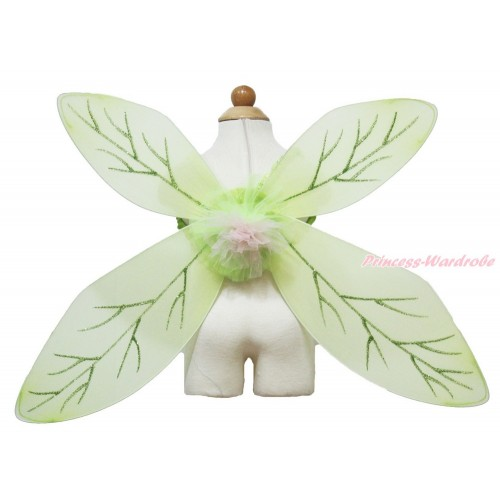 Fairy Tinker Bell Green Wings Halloween Costume C288