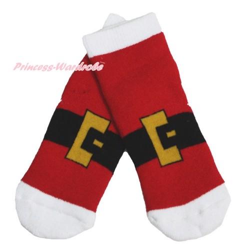 Xmas Santa Claus Belt Socks H319