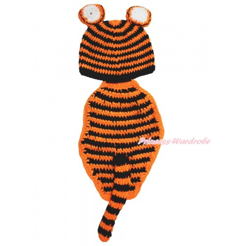 Wild Animal Safari Baby Tiger Tail Photo Prop Crochet Newborn Baby Custome C296