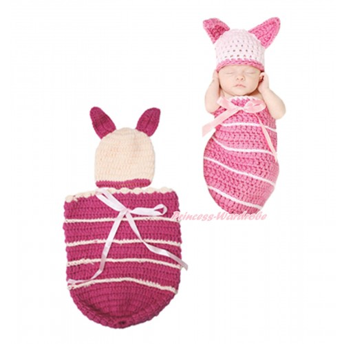 Piglet Photo Prop Crochet Newborn Baby Custome C156
