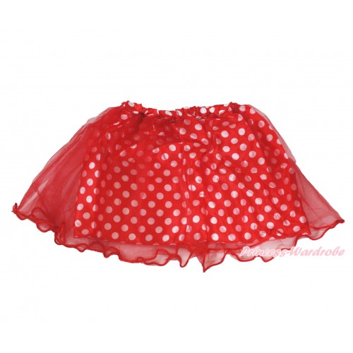 Red White Dots Minnie Skirt Costume C338