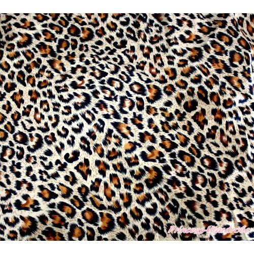 1 Yard Leopard Print Satin Fabrics HG050