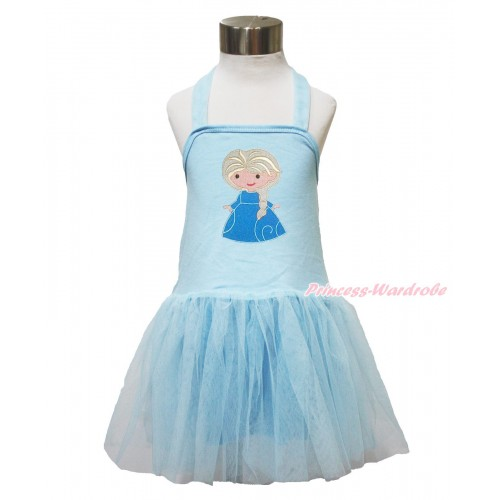 Frozen Light Blue Halter Dress & Princess Elsa LP139