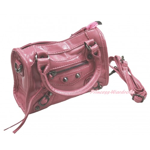 Light Pink Rivet Cute Handbag Petti Bag Purse With Strap CB179