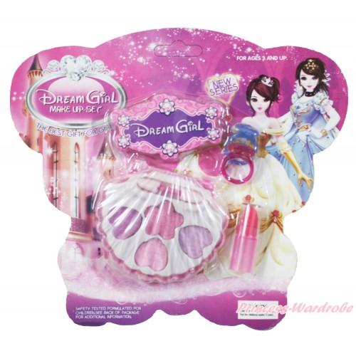 Princess Pink Purple Cosmetics Eyeshadow Makeup Shell Box Toy TY007