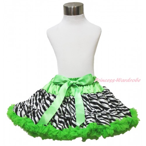 Zebra Dark Green Full Pettiskirt P191