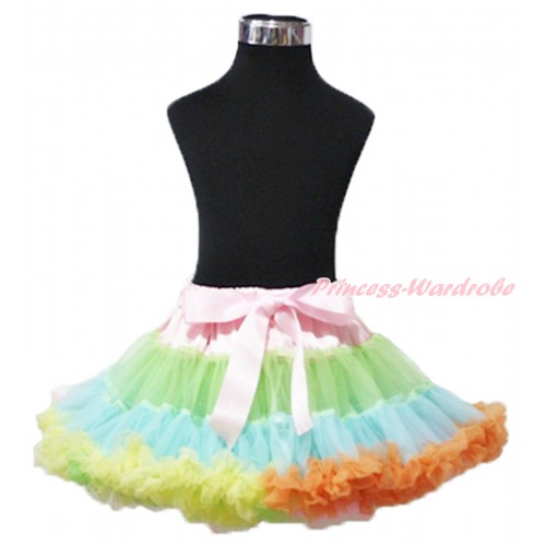Light-Colored Rainbow Adult Pettiskirt XXXL AP98