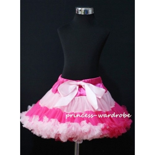 Hot Light Pink Multi-Colored Pettiskirt P68
