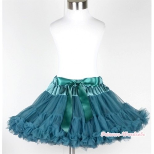 Teal Green Full Pettiskirt P153
