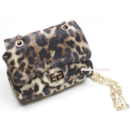 Gold Chain Leopard Little Cute Petti Shoulder Bag CB10