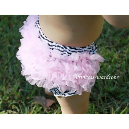 Light Pink Zebra Ruffles Bloomers B13