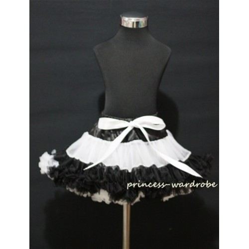 Black White Multi-Colored Pettiskirt P69