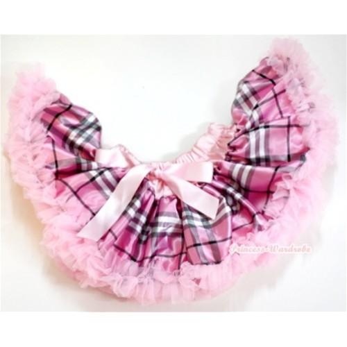 Light Pink Checked Newborn Pettiskirt N113