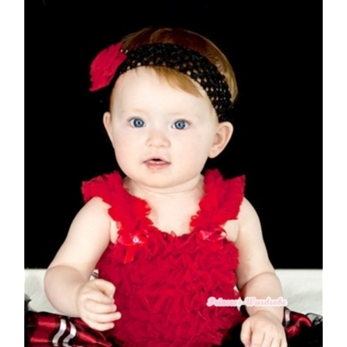 Hot Red Ruffles Baby Tank Top RT05