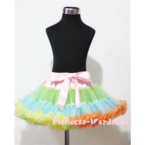 Light-Colored Rainbow Teen Full Pettiskirt XXL AP66