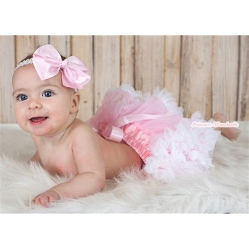 Light Pink White Newborn Pettiskirt N24