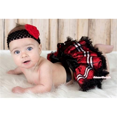 Red Black Checked Newborn Pettiskirt N111
