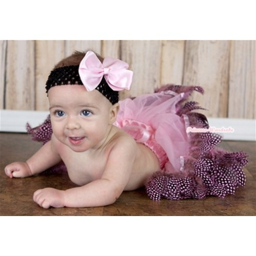 Light Pink Feather Newborn Pettiskirt N109