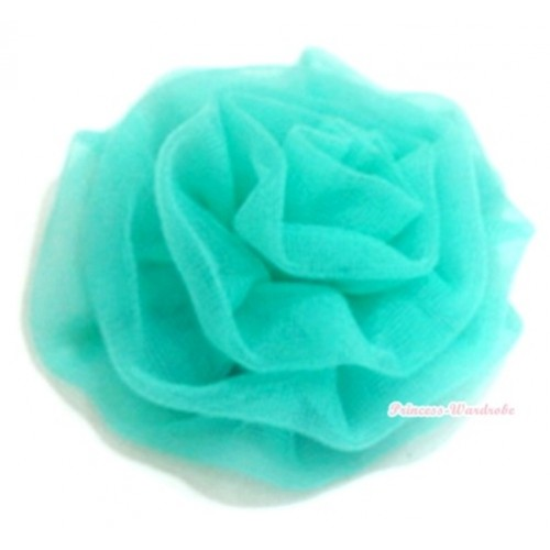 Aqua Blue Rosettes Hair Pin H039
