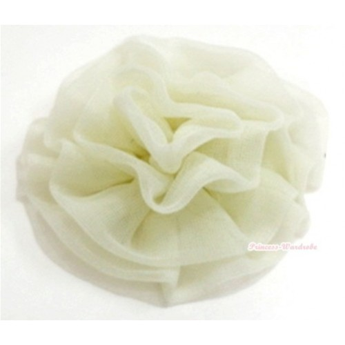 Cream White Rosettes Hair Pin H042