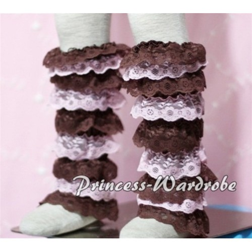 Baby Brown Light Pink Lace Leg Warmers Leggings LG103