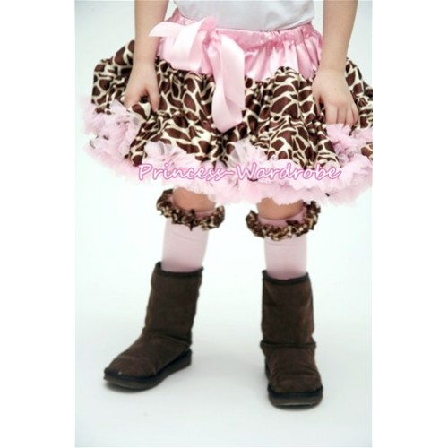Light Pink Giraffe Full Pettiskirt P118