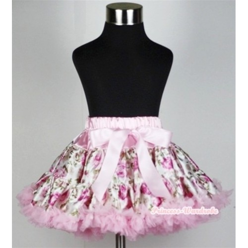 Light Pink Rose Fusion Teen Full Pettiskirt XXL AP68