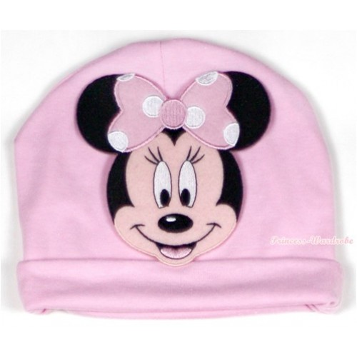 Light Pink Cotton Cap with Light Pink Minnie Print TH326