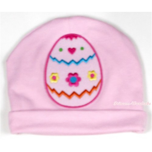 Light Pink Cotton Cap with Easter Egg Print TH327