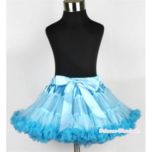 Light Blue Peacock Blue Pettiskirt P154