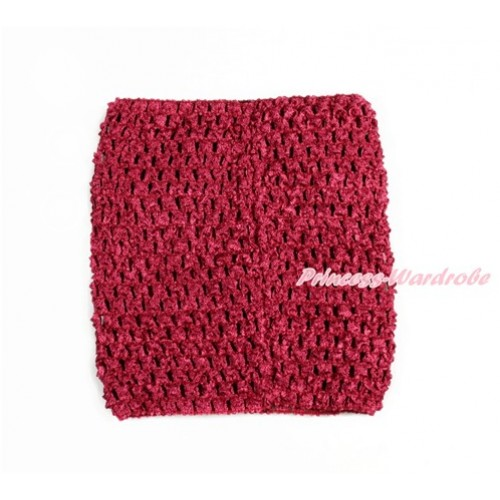 Raspberry Wine Red Crochet Tube Top CT671