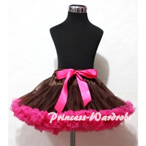 Brown Hot Pink Pettiskirt P91