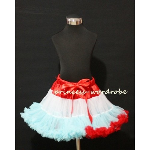 Red White Light Blue Mix Pettiskirt P70