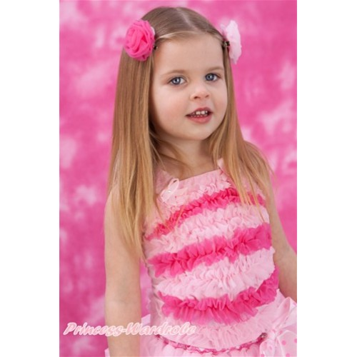 Light and Hot Pink Ruffles Tank Top NR14