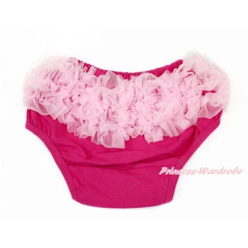 Light Pink Ruffles Hot Pink Panties Bloomers B074