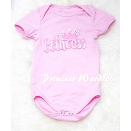 Light Pink Baby Jumpsuit with Princess Print TH61