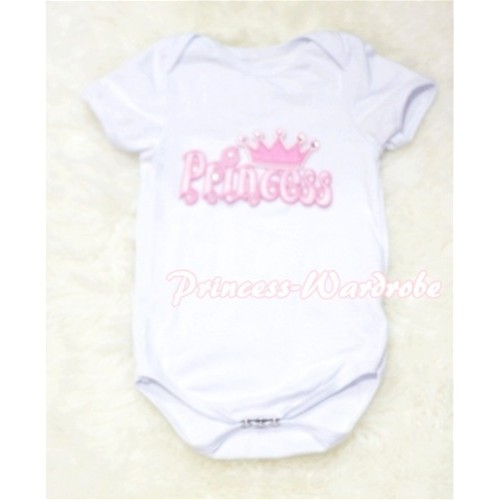 White Baby Jumpsuit with Princess Print TH90