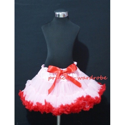 Light Pink Red Pettiskirt P73