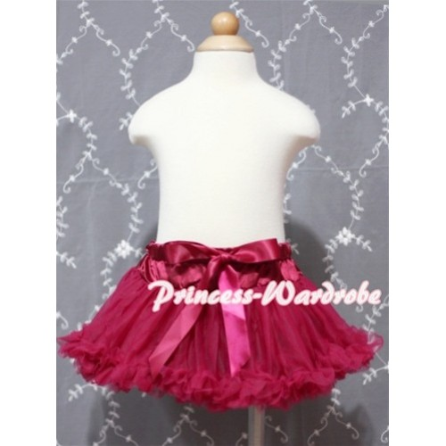 Raspberry Wine Red Baby Pettiskirt N65