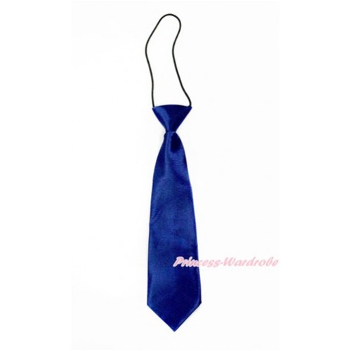 Royal Blue Silk Elastic Necktie BT18