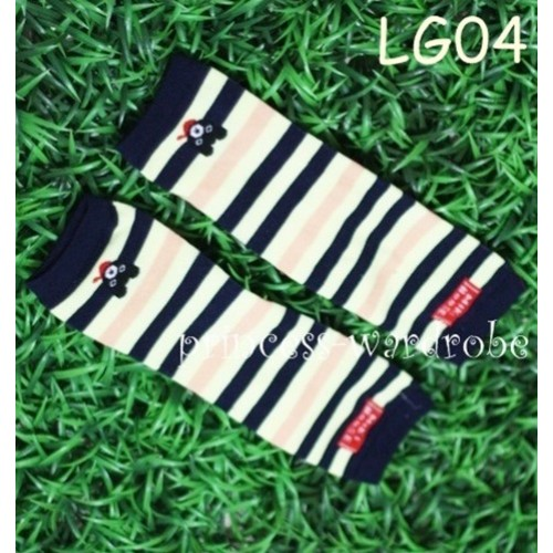 Newborn Baby Black & Yellow Stripes Leg Warmers Leggings LG04