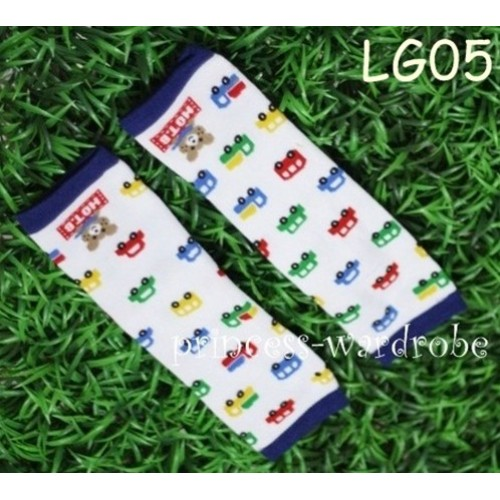 Newborn Baby Colorful Vehicle Leg Warmers Leggings LG05