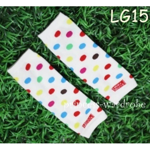 Newborn Baby Rainbow Polka Dots Leg Warmers Leggings LG15